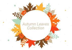 Gratis Herfstbladeren Vector Achtergrond