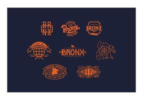 Gratis Bronx Logo en Badges vector