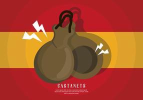 Castanets Illustratie vector