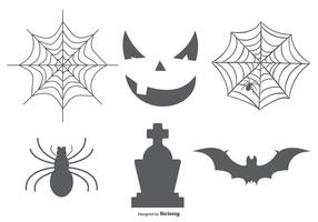 Halloween elementen collectie vector