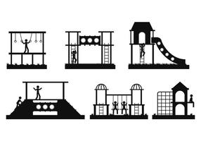Jungle gym vector set