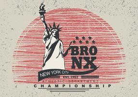 Vintage Grunge Bronx NYC Illustratie vector