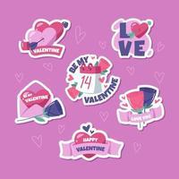 schattige valentijn sticker set