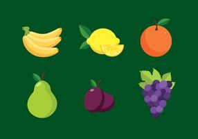 Fruit plat vrije vector