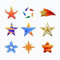 kleurrijke sterlogo collectie