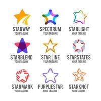 verschillende star-logo-collectie vector