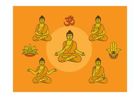 Gratis Boeddha Vectorillustratie vector