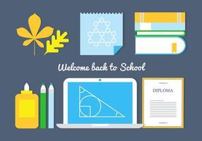 Gratis Terug naar school Vector Elementen En Pictogrammen