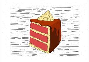 Vrije Handgetekende Vector Cake Illustratie