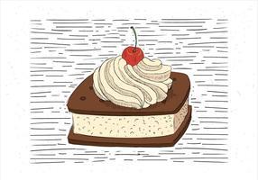 Gratis Handgetekende Vector Cake Illustratie