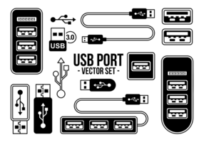USB Port Pictogrammen Vector