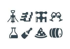 Wijn, wijn maken vector iconen