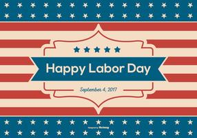 Retro Happy Labor Day Achtergrond