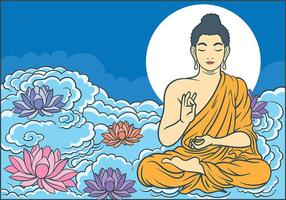 Buddah Vectorillustratie vector