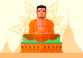 Vectorillustratie Van Boeddha vector