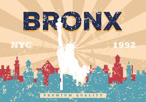 Grunge Vintage Bronx Illustratie vector