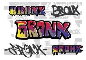 Bronx muur straat kunst vector