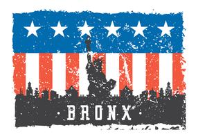 Grunge Bronx Illustratie vector