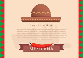Mexicaans Traditioneel Eten Menu Sjabloon Vector