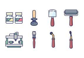 Gratis Intaglio Print Icons vector
