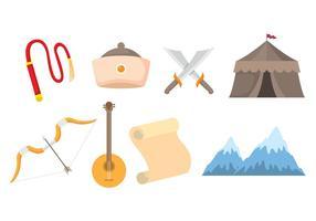 Mongoolse Icon Set vector