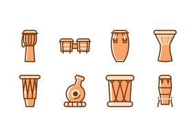 Traditionele muziekinstrumenten vector