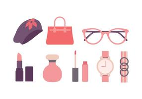 vrouwen mode icon pack vector