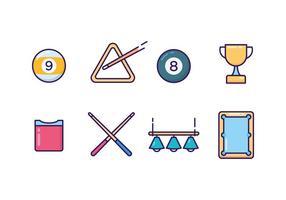 Vector pictogrammen van pool pictogrammen