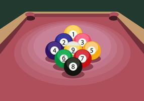 9 Ball Illustratie vector