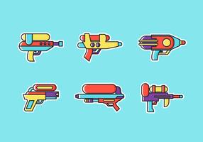 Watergun Gratis Vector Pack