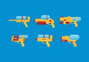 Water Gun Set Gratis Vector