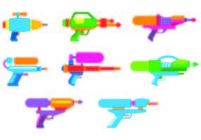 Set Watergun Vectors