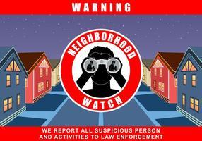 Neighborhood Watch Program Vector