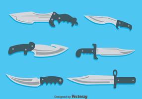 Bayonet Collectie Op Blauwe Vector