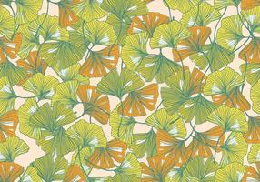 Ginkgo naadloze patroon vector