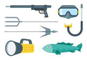 Spearfishing Vector Pictogrammen