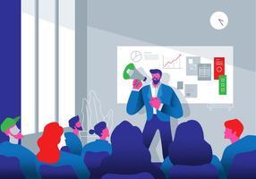 Verwijzing Door Business Team Leader Vector Platte Illustratie