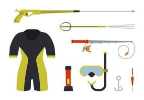 vlakke spearfishing vectoren