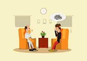 Psycholoog Illustratie Vector