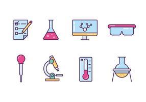 lab apparatuur iconen vector