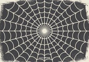 Oude Spookachtige Halloween Spinnenweb Achtergrond