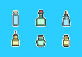 Fles Met Stopper Gratis Vector Pack