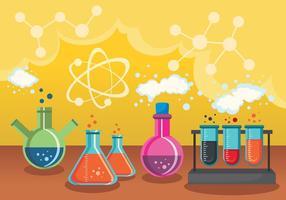 Wetenschappelijke en chemische vectorontwerpen vector