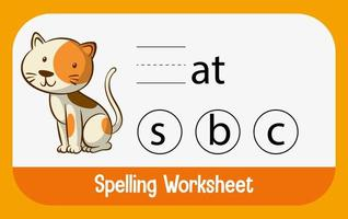 zoek ontbrekende letter met kat