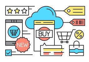 Gratis Online Winkelen Pictogrammen vector