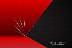 moderne rode en zwarte metalen achtergrond vector