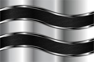 moderne grijze en zilveren metalen achtergrond