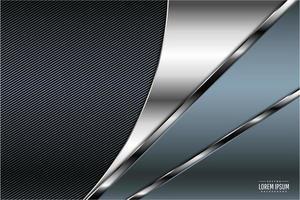 moderne blauwe en zilveren metalen achtergrond