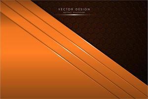 moderne oranje en bruine metalen achtergrond vector