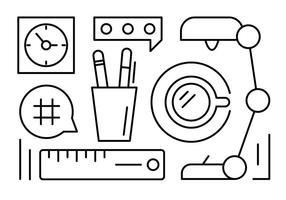 Gratis Office Desk Elements vector